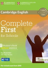Complete First for Schools Student's Book without Answers with CD with Testbank