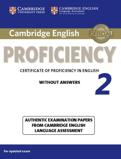 Certificate Of Proficiency In English Book